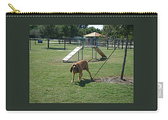 Cujo Running At The Park Carry-all Pouch by Val Oconnor