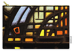 Carry-all Pouch featuring the photograph Culross Abbey - Stained Glass by Jeremy Lavender Photography