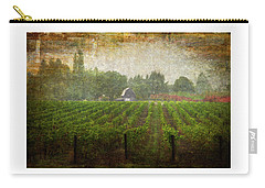 Carry-all Pouch featuring the photograph Cultivating A Chardonnay by Jeffrey Jensen
