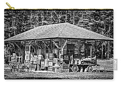 Carry-all Pouch featuring the photograph Cummings Railroad Depot, Luggage by Betty Denise