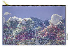 Carry-all Pouch featuring the photograph Cumulus And Trees by Nareeta Martin