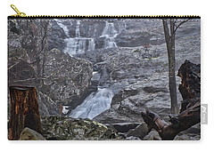 Carry-all Pouch featuring the photograph Cunningham Falls In The Rain And Fog by Mark Dodd