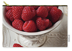 Cup Full Of Raspberries  Carry-all Pouch by Garry Gay