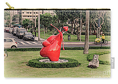 Carry-all Pouch featuring the photograph Cupid's Heart  by Mary Machare