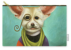 Curious As A Fox Carry-all Pouch by Leah Saulnier The Painting Maniac