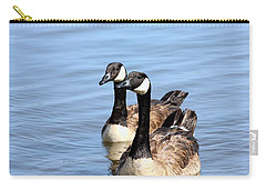 Carry-all Pouch featuring the photograph Curious Canda Geese by Sheila Brown