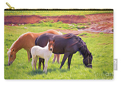 Curious Colt And Mares Carry-all Pouch