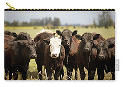 Carry-all Pouch featuring the photograph Curious Cows by Rebecca Cozart