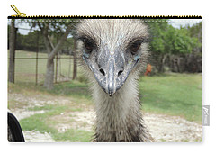 Curious Emu At Fossil Rim Carry-all Pouch by Jayne Wilson