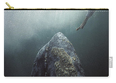 Curious Gray Whale And Tourist Carry-all Pouch