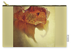Curled Autumn Leaf Carry-all Pouch by Lyn Randle