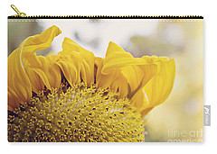 Curling Petals On Sunflower Carry-all Pouch