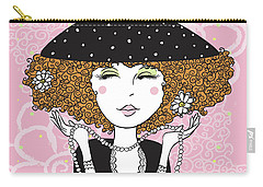 Curly Girl In Polka Dots Carry-all Pouch