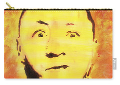 Curly Howard Three Stooges Pop Art Carry-all Pouch by Bob Baker