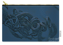 Carry-all Pouch featuring the digital art Curly Swirly by Kim Henderson