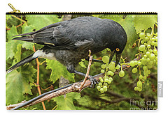 Currawong On A Vine Carry-all Pouch