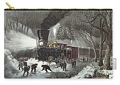 Currier And Ives Carry-all Pouch by American Railroad Scene