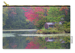 Carry-all Pouch featuring the photograph Curtis Pond Misty Autumn by Alan L Graham
