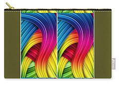 Curved Abstract Carry-all Pouch by Sheila Mcdonald