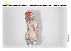 Carry-all Pouch featuring the mixed media Curves Of Helga by TortureLord Art