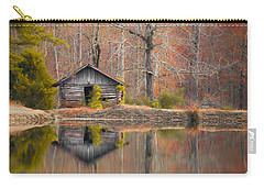 Custom Crop - Cabin By The Lake Carry-all Pouch by Shelby  Young