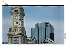 Carry-all Pouch featuring the photograph Custom House, Boston, Ma by Betty Denise
