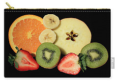 Carry-all Pouch featuring the photograph Cut Fruit by Shane Bechler