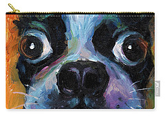 Cute Boston Terrier Puppy Art Carry-all Pouch