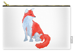 Cute Fox With Fluffy Tail Carry-all Pouch