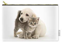 Cute Kitten And Perfect Puppy Carry-all Pouch
