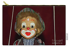 Carry-all Pouch featuring the photograph Cute Little Clown By Kaye Menner by Kaye Menner