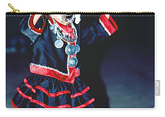 Carry-all Pouch featuring the photograph Cute Little Thai Girl Dancing by Heiko Koehrer-Wagner