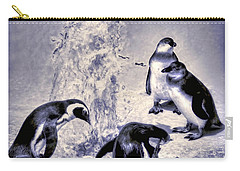 Cute Penguins Carry-all Pouch by Pennie  McCracken