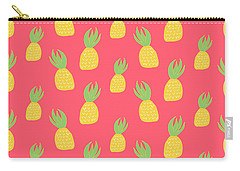 Cute Pineapples Carry-all Pouch by Allyson Johnson