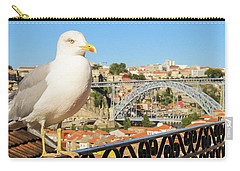 Cute Seagull And Porto's Cityscape Carry-all Pouch