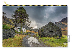 Carry-all Pouch featuring the photograph Cwmorthin Slate Ruins by Adrian Evans