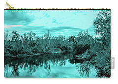 Carry-all Pouch featuring the photograph Cyan Dreaming - Sarasota Pond by Madeline Ellis