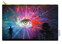 Cyber Sky Carry-all Pouch by Paulo Zerbato