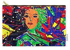 Carry-all Pouch featuring the digital art Cyberspace Goddess by Natalie Holland