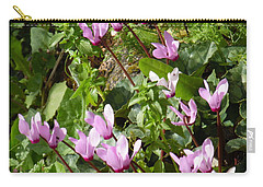 Cyclamen In Spring Carry-all Pouch