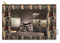 Carry-all Pouch featuring the photograph Cycle Bicycle Race Exercise Posters Pillows Curtains Tote Bags Towels Christmas Holidays Festivals  by Navin Joshi