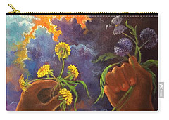 Cycle Of Life  Hands Ot Heaven Series Carry-all Pouch by Randy Burns