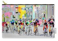 Cycling Down Main Street Usa Carry-all Pouch by Vicki Pelham
