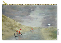 Cycling On Ocracoke Island Carry-all Pouch
