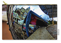 Carry-all Pouch featuring the photograph Cyclist's View Of Biblian Church by Al Bourassa