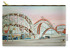Cyclone Rollercoaster Coney Island, Ny Towel Version Carry-all Pouch