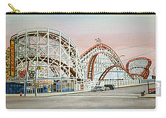 Cyclone Rollercoaster In Coney Island New York Carry-all Pouch