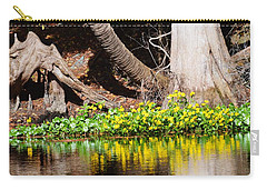 Cypress And Flower Reflections Carry-all Pouch
