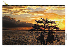 Cypress Sunset Carry-all Pouch by Judy Vincent
