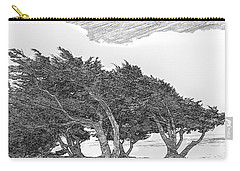 Cypresses Carry-all Pouch by Jonathan Nguyen